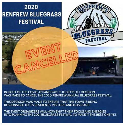 2020 Bluegrass Festival Cancelled